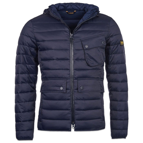 Barbour Outston Hooded Quilt Jacket - Navy - Arena Menswear