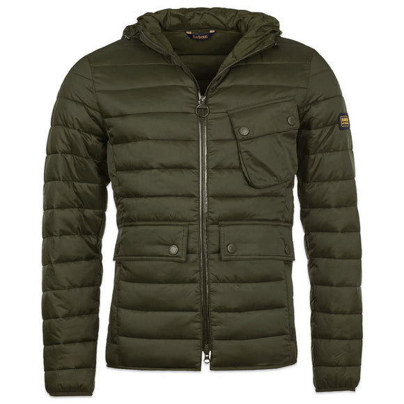 Barbour Outston Hooded Quilt Jacket - Olive - Arena Menswear
