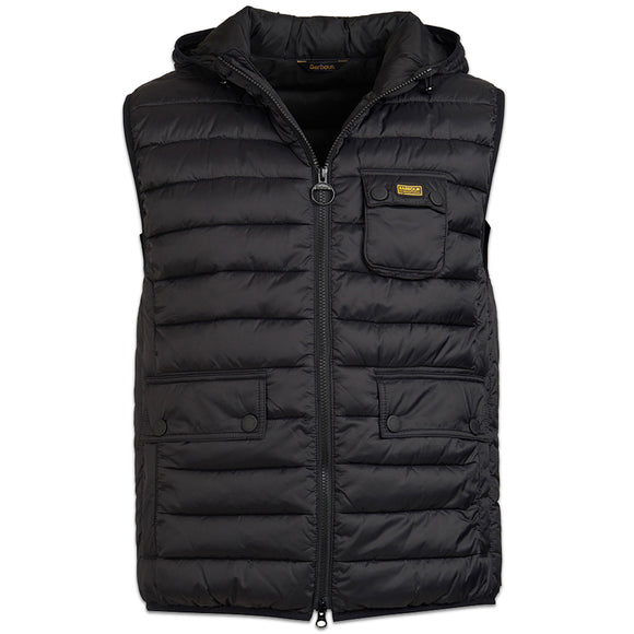 Barbour Outsten Hooded Gillet - Black - Arena Menswear