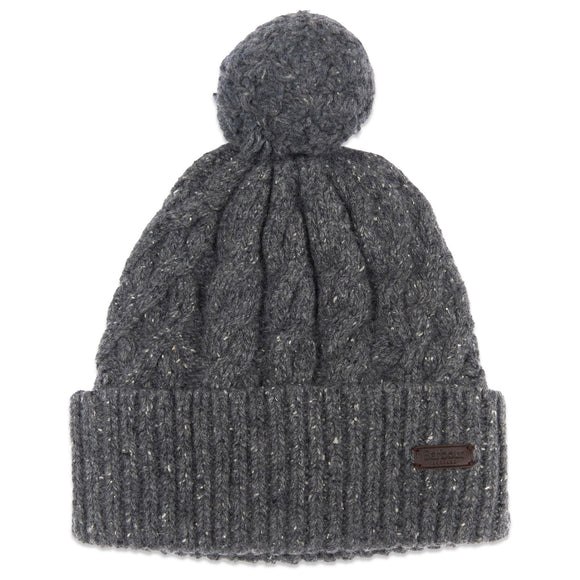 Barbour Seaton Pom Beanie - Grey