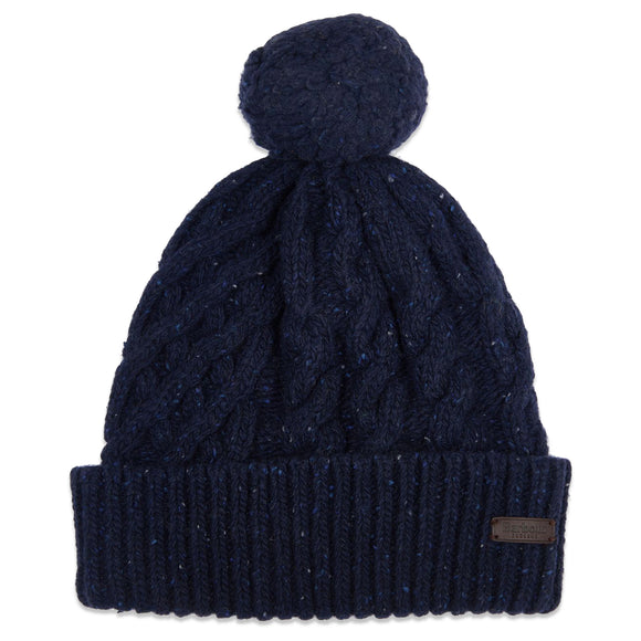 Barbour Seaton Pom Beanie - Navy - Arena Menswear