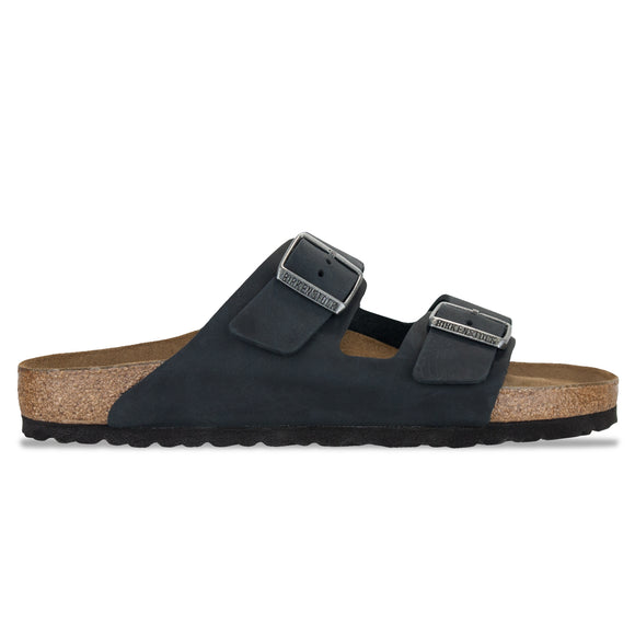 Birkenstock Arizona SFB Sandals - Black Oiled Leather