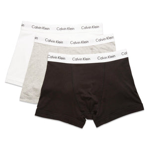 Calvin Klein Cotton Stretch Trunks - Black/White/Grey - Arena Menswear