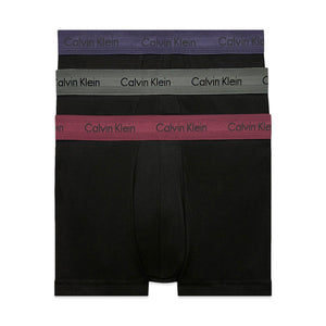 Calvin Klein Cotton Stretch Trunks - Blue/Fern/Raisin