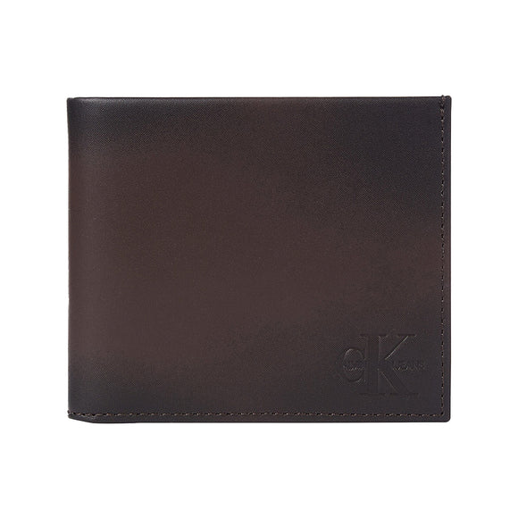 Calvin Klein Leather Billfold Wallet - Bitter Brown
