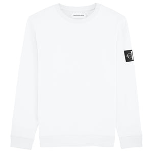 Calvin Klein Monogram Badge Crew Sweat - White