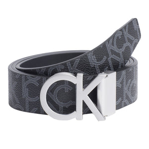 Calvin Klein Reversible Monogram Belt - Black