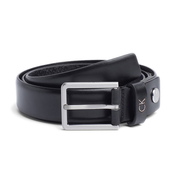 Calvin Klein Leather Adjustable Formal Belt - Black