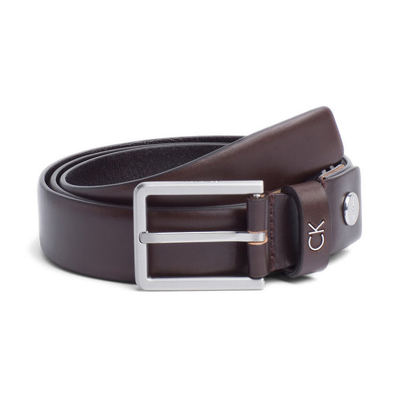 Calvin Klein Leather Adjustable Formal Belt - Brown