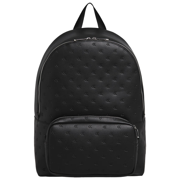 Calvin Klein Monogram Emboss Campus Backpack - Black