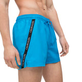 Calvin Klein Short Drawstring Swim Shorts - Ibiza Blue - Arena Menswear