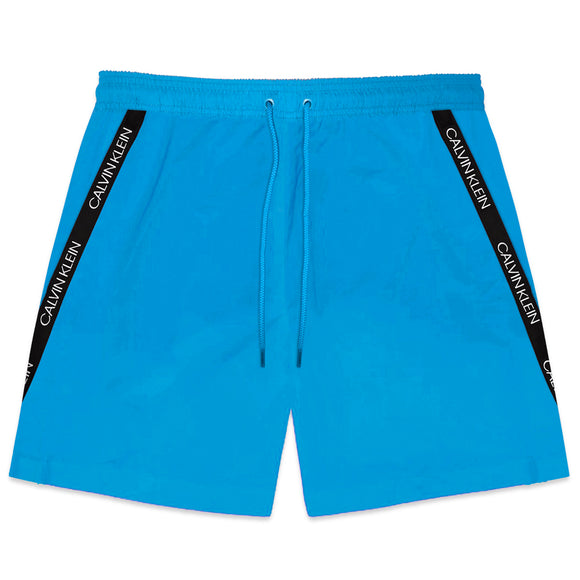 Calvin Klein Short Drawstring Swim Shorts - Ibiza Blue