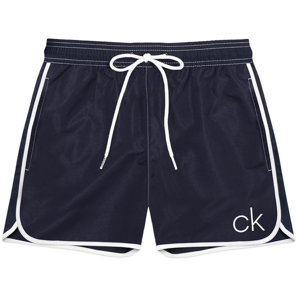 Calvin Klein Short Runner Swim Shorts - Blue Shadow - Arena Menswear