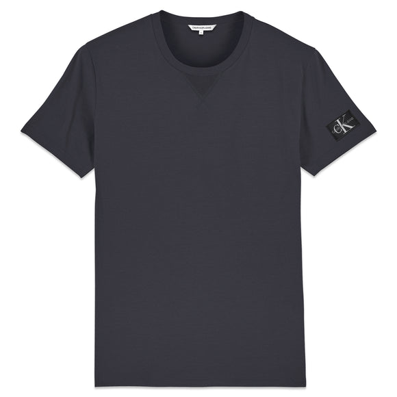 Calvin Klein Monogram Sleeve Badge T-Shirt - Grey