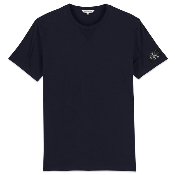 Calvin Klein Monogram Sleeve Badge T-Shirt - Night Sky