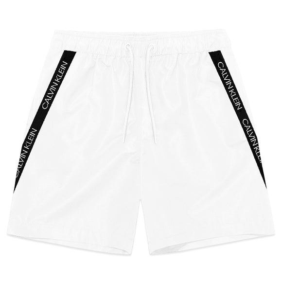 Calvin Klein Short Drawstring Swim Shorts - White - Arena Menswear