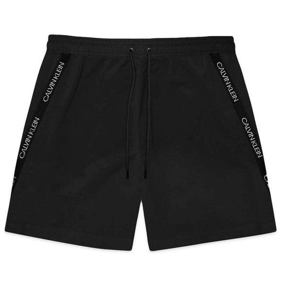 Calvin Klein Short Drawstring Swim Shorts - Black - Arena Menswear