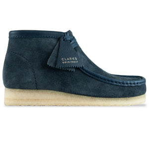 Clarks Originals New Wallabee Boot - Navy Hairy Suede