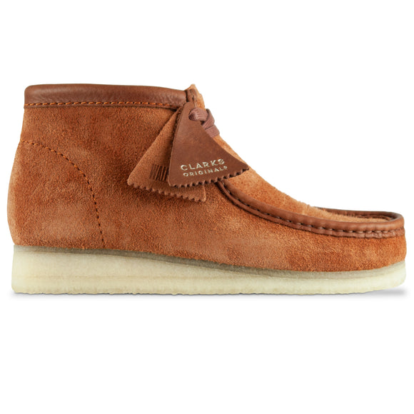 Clarks Originals New Wallabee Boot - Tan Hairy Suede