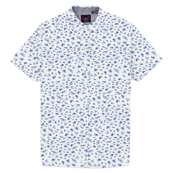 Superdry Classic Shoreditch Print Short Sleeve Shirt - Optic Paisley