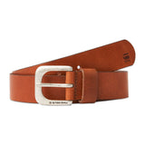 G-Star Zed Leather Belt - Dark Cognac/Antic Silver