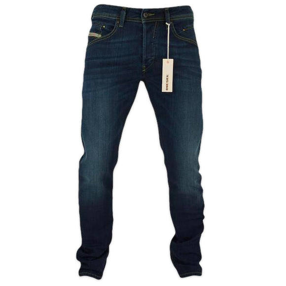 Diesel Belther 814W Tapered Stretch Jeans - Dark Blue