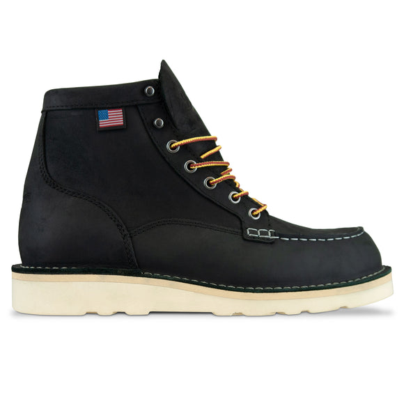 Danner Bull Run Moc Toe Boot - Black