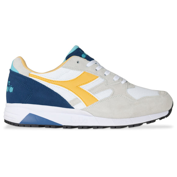 Diadora N902S Trainers - White/ Banana / Blue