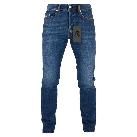 Diesel Buster 82AZ Tapered Fit Jeans - Medium Blue