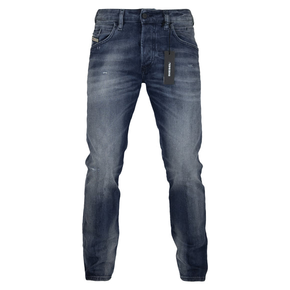 Diesel D-Bazer 84DD Tapered Fit Jeans - Medium Blue - Arena Menswear