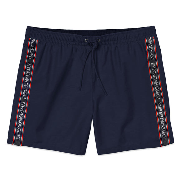 Emporio Armani Tape Swim Shorts - Navy Blue