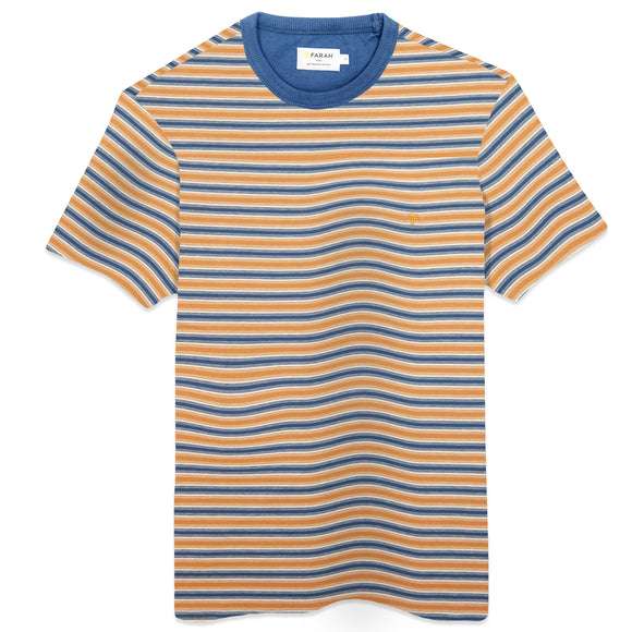 Farah Alginet Stripe T-Shirt - Cold Metal