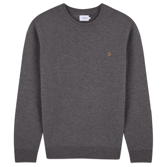 Farah Rosecroft Lambswool Crew Jumper - Grey