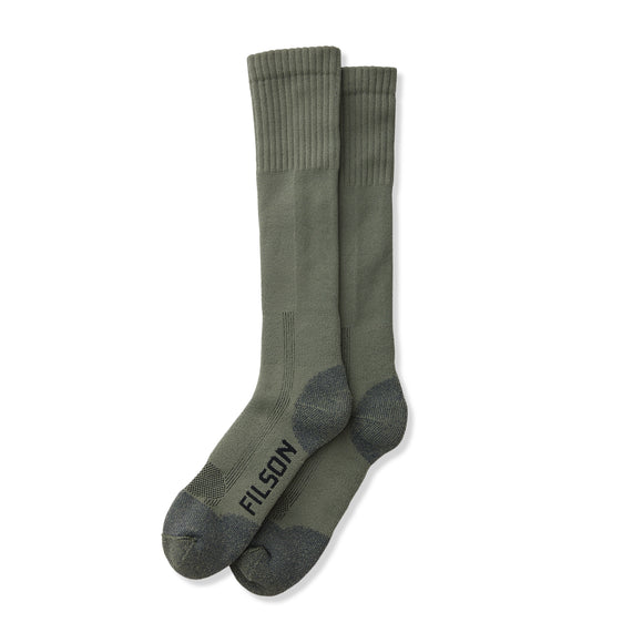 Filson Midweight Technical Boot Socks - Military Green