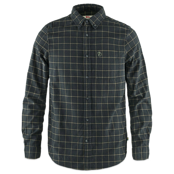 Fjallraven Ovik Flannel Shirt - Dark Grey