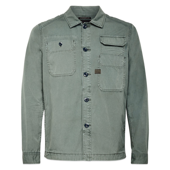 G-Star Multi Pocket Straight Overshirt - Grey Moss Ripstop