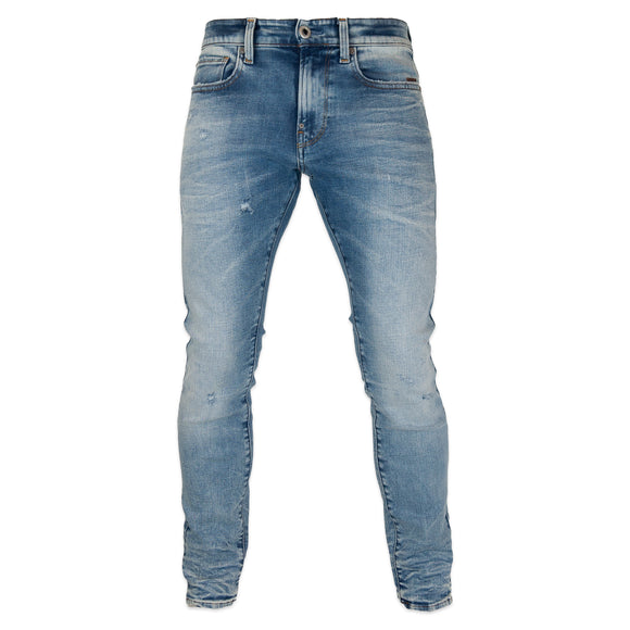 G-Star Revend Skinny Jeans - Elto Superstretch Vintage Striking Blue Destroyed