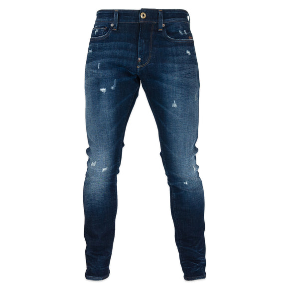 G-Star Revend Skinny Jeans - Elto Superstretch Worn In Sapphire Destroyed