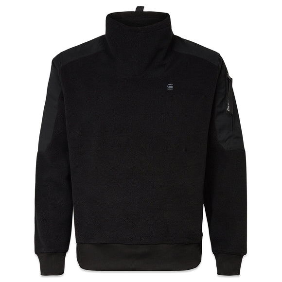 G-Star Tech Fleece Funnel Zip Sweat - Black