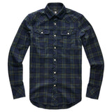 G-Star 3301 Slim Shirt - Indigo Dark Vermont Green Class Check