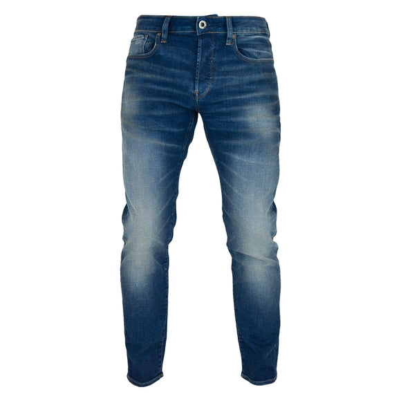 G-Star 3301 Slim Jeans - Joane Worker Blue Faded Stretch Denim