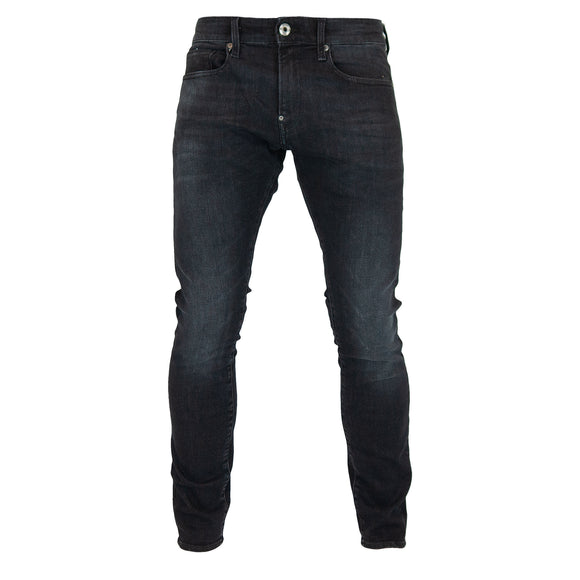 G-Star Revend Skinny Jeans - Elto Medium Aged Faded Black Superstretch
