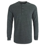 Men's G-Star Riban Grandad LS Tee - Black Heather - Arena Menswear