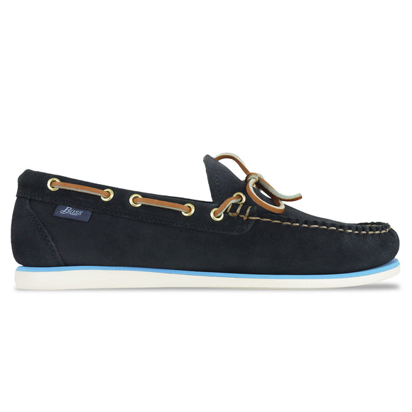 Bass Camp Moc Lite Decker Suede Shoe - Navy - Arena Menswear