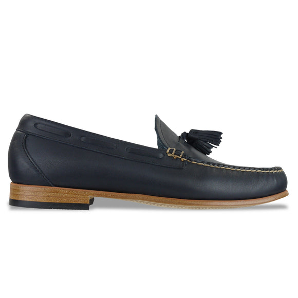 Bass Weejuns Palm Springs Larkin Loafer - Navy Leather - Arena Menswear
