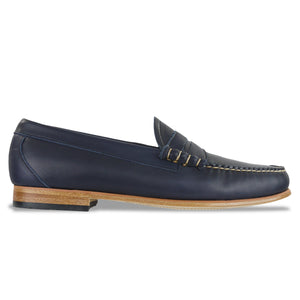 Bass Weejuns Palm Springs Larson Loafer - Navy Leather - Arena Menswear