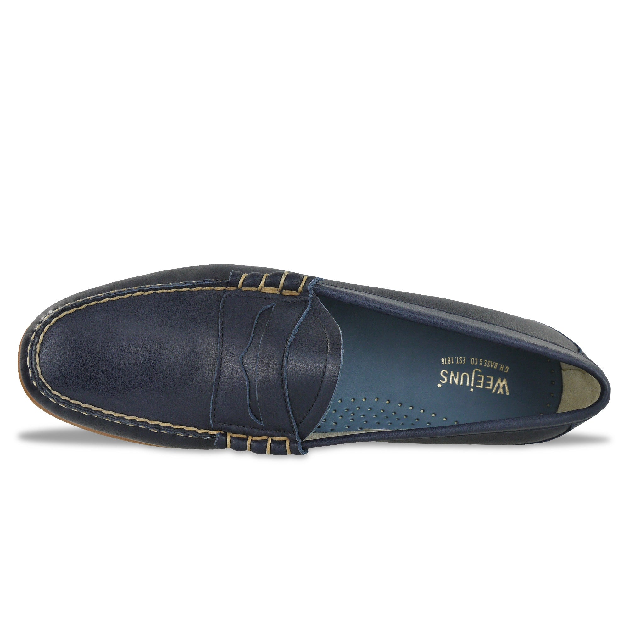 256e9138e68 Bass Weejuns Palm Springs Larson Loafer - Navy Leather – Arena Menswear