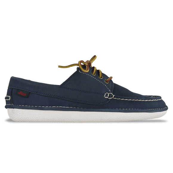 Bass Wilton Driver 4 Eye Lace Shoe - Navy Nubuck - Arena Menswear
