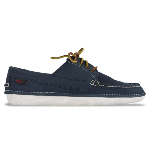 Bass Wilton Driver 4 Eye Lace Shoe - Navy Nubuck