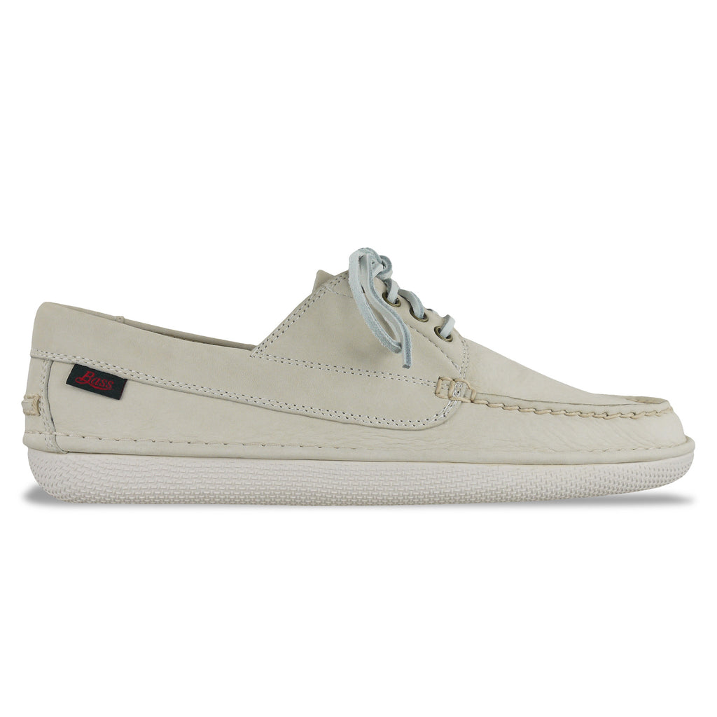 Bass Wilton Driver 4 Eye Lace Shoe - Off White Nubuck